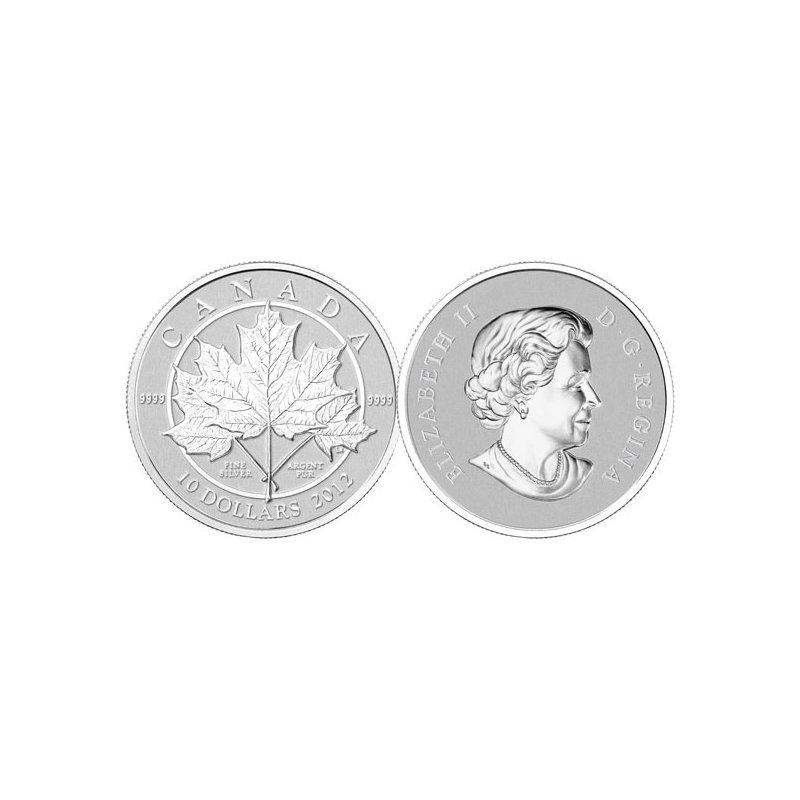 10 Dollar Silbermünze Kanada 2012 Maple Leaf Forever