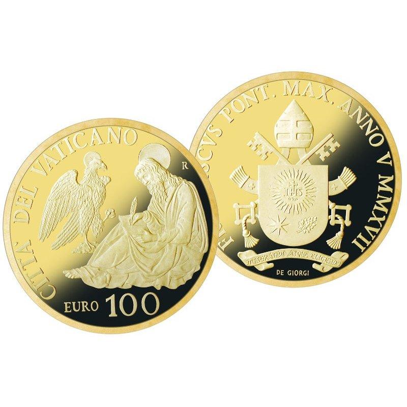 100 Euro Goldmünze Vatikan 2017 Die Evangelisten Johannes