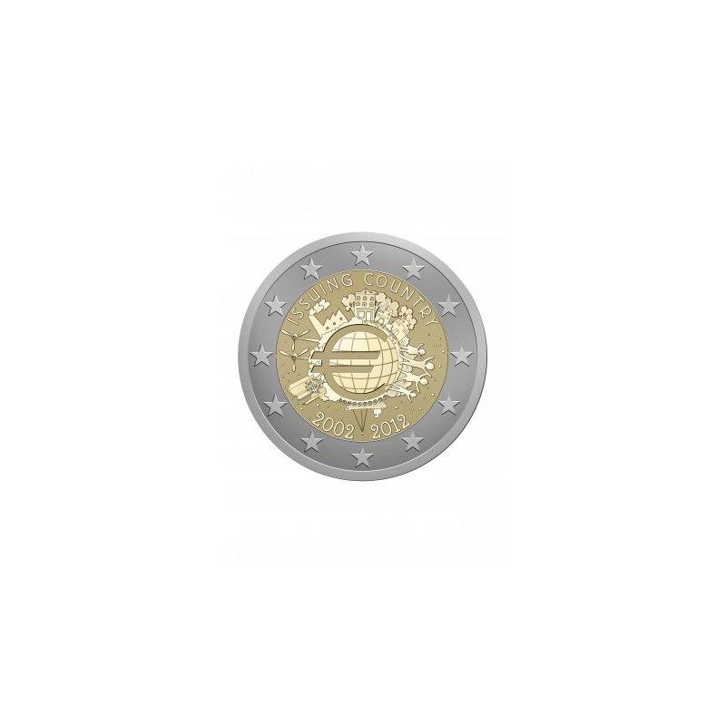 17 X 2 Euro Sondermünze 201210 Jahre Euro Bargeld 5