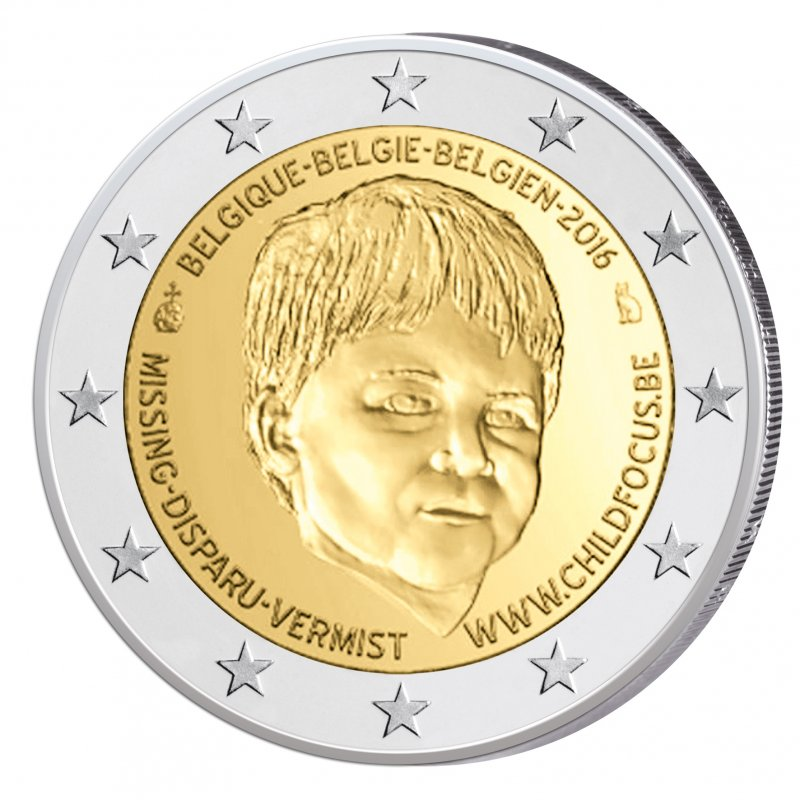 2 Euro Sondermünze Belgien 2016child Focusunc 690