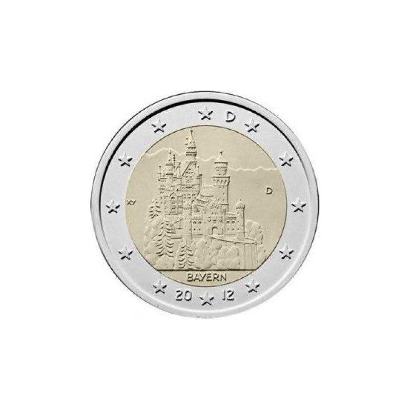 2 Euro Sondermünze Deutschland 2012 D Bayern 350