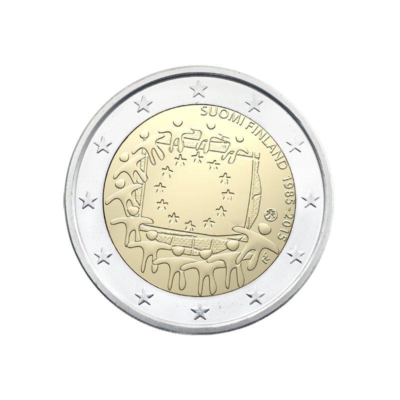 2 Euro Sondermünze Finnland 2015europaflagge 390