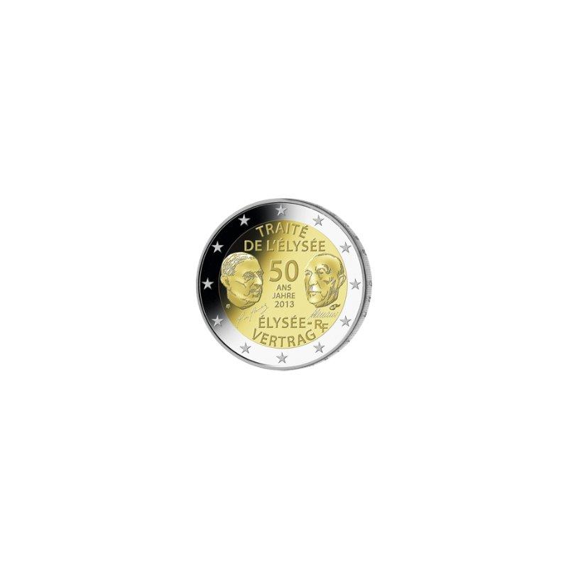 2 Euro Sondermünze Frankreich 2013elysee Vertrag 3