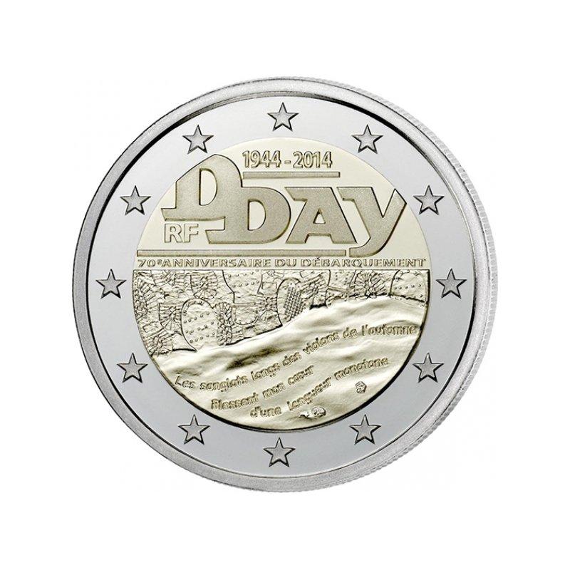 2 Euro Sondermünze Frankreich 2014d Day 350