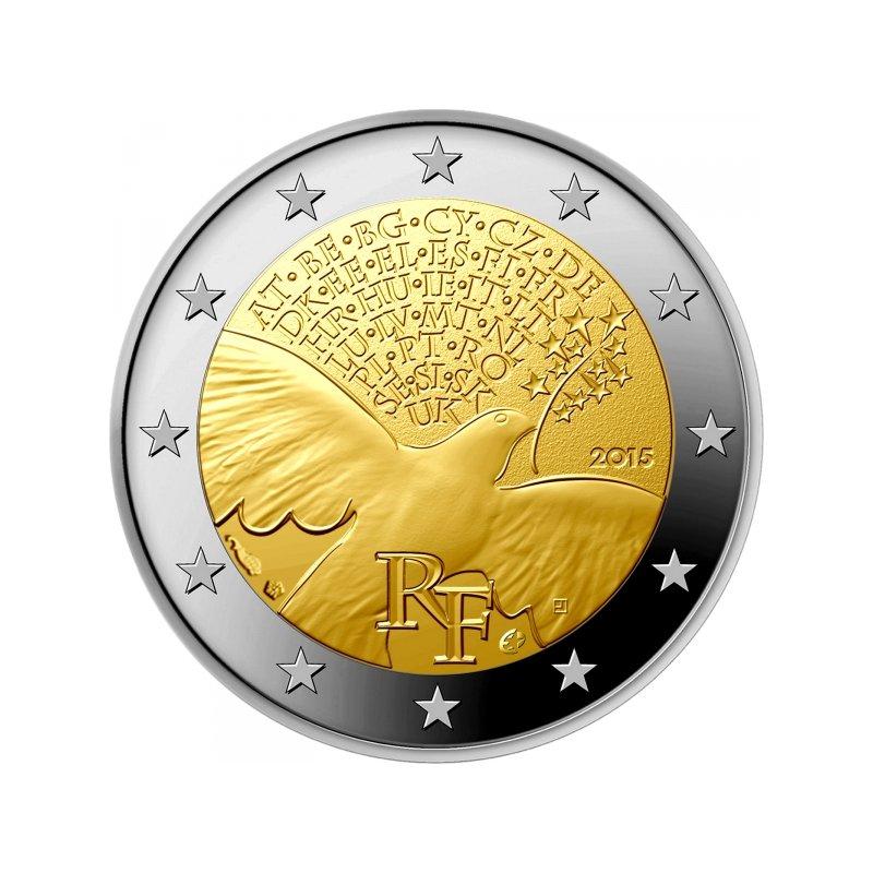 2 Euro Sondermünze Frankreich 201570 Jahre Frieden In Euro