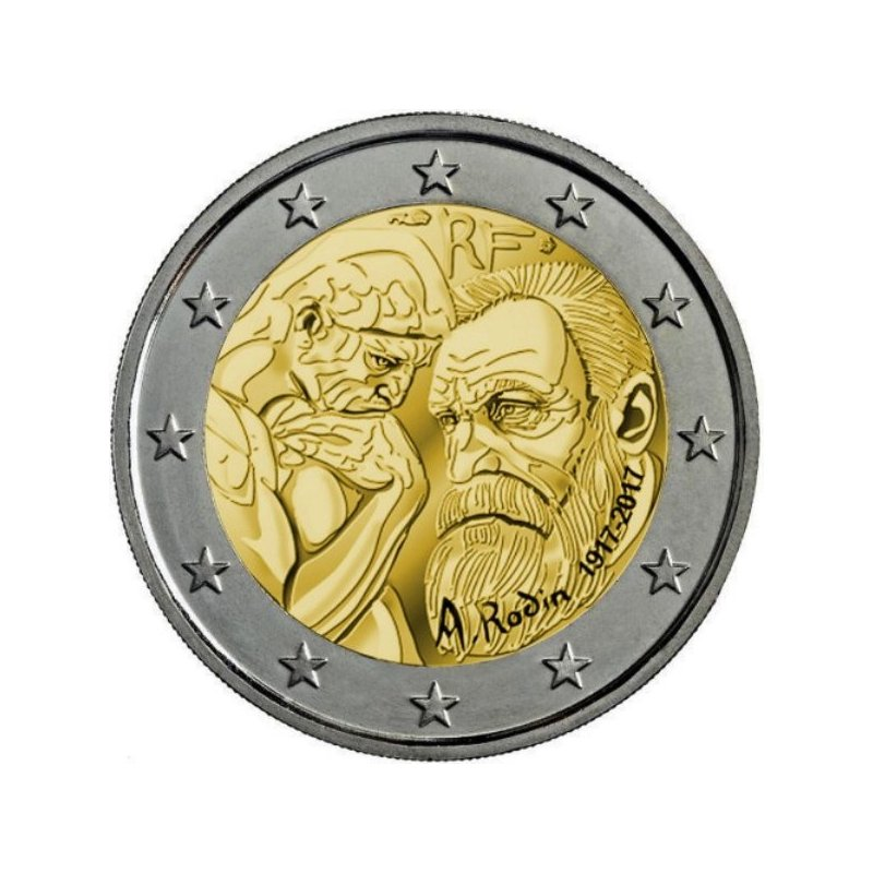 2 Euro Sondermünze Frankreich 2017rodin 350