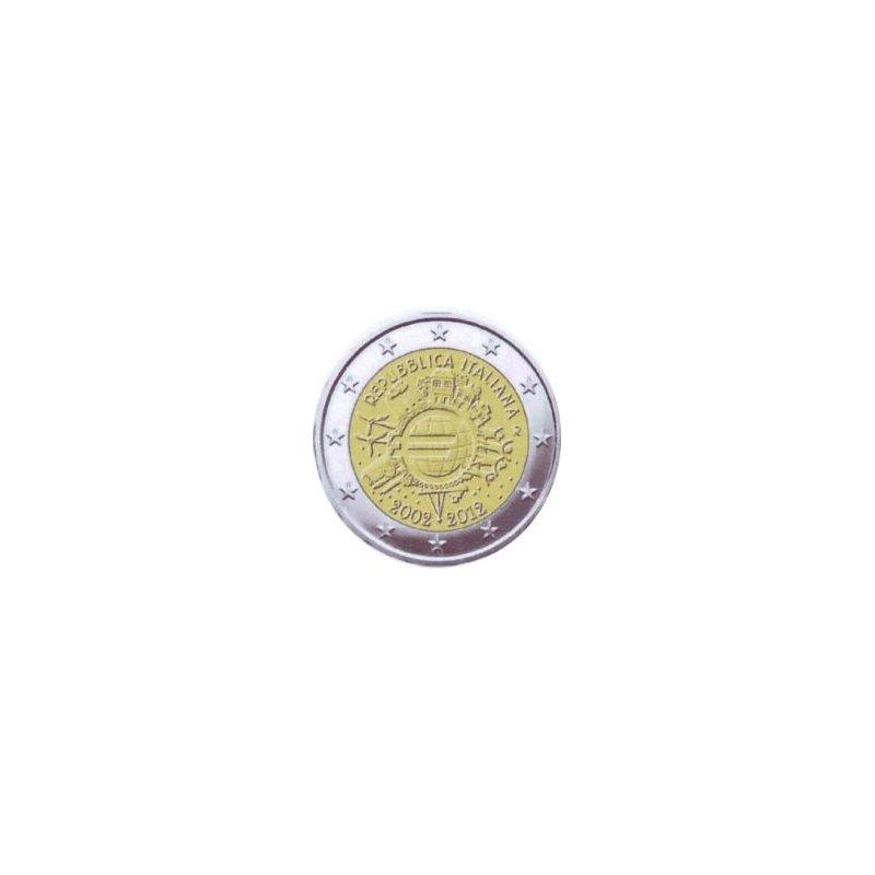 2 Euro Sondermünze Italien 201210 Jahre Euro Bargeld
