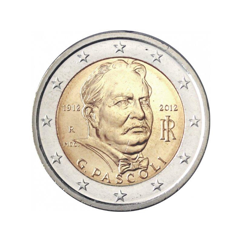 2 Euro Sondermünze Italien 2012pascoli 420