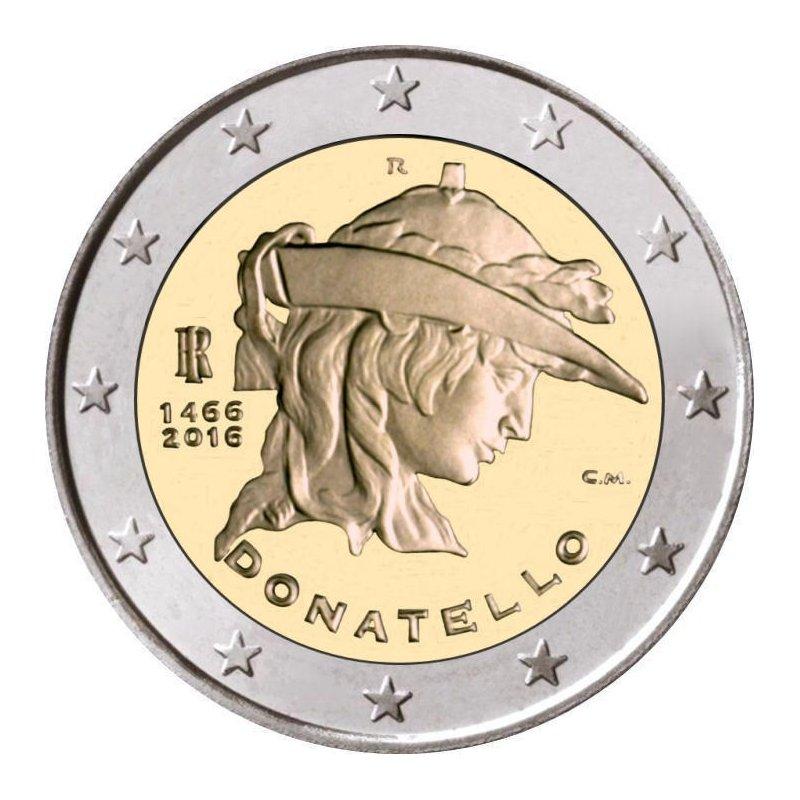 2 Euro Sondermünze Italien 2016donatello Bankfrisch