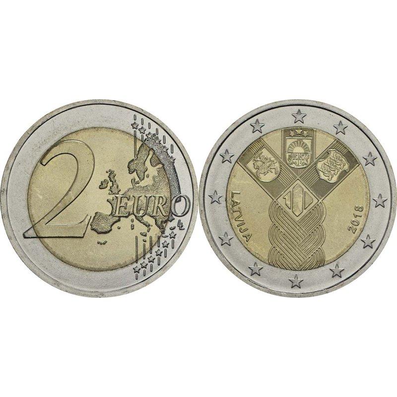 2 Euro Sondermünze Lettland 2018 100 Jahre Unabhängig