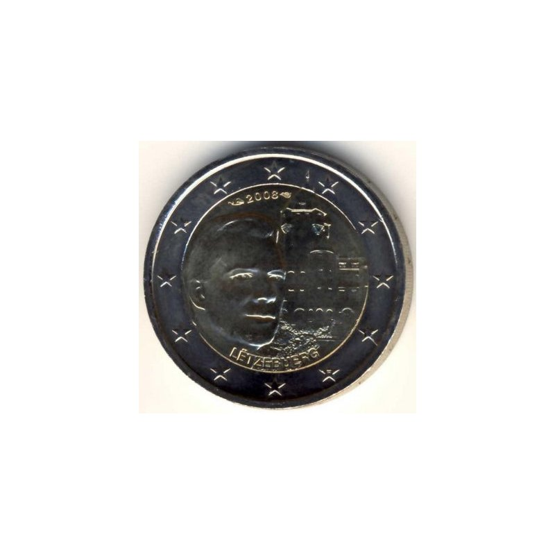 2 Euro Sondermünze Luxemburg 2008chateau De Berg 5