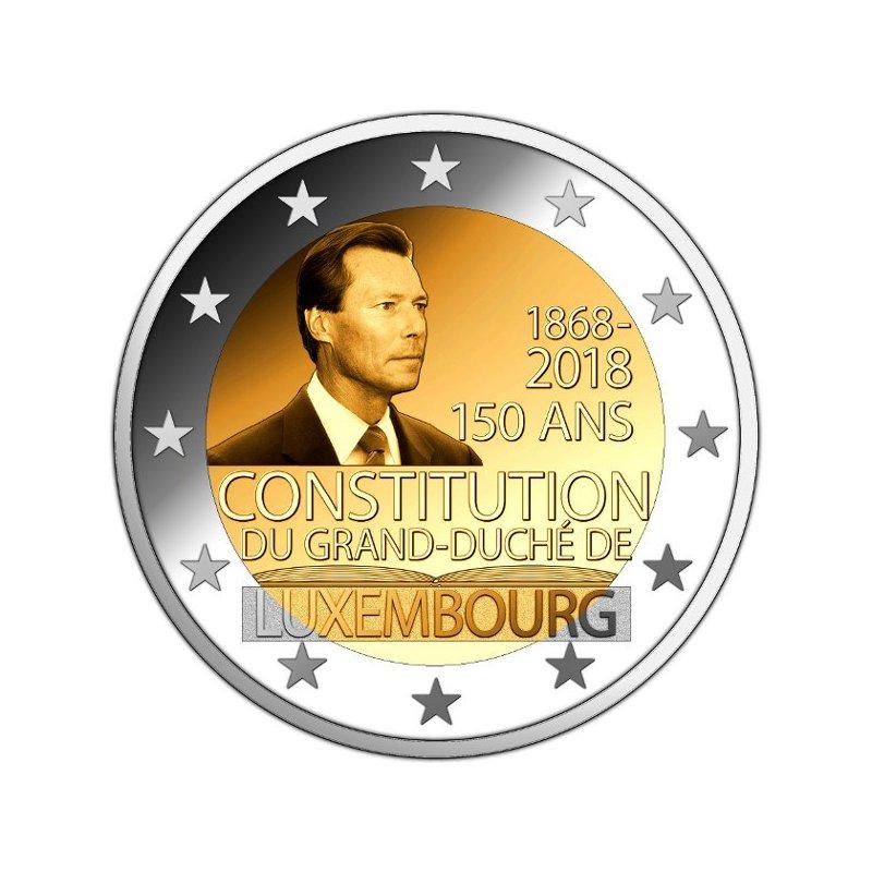 2 Euro Sondermünze Luxemburg 2018verfassung 390 E