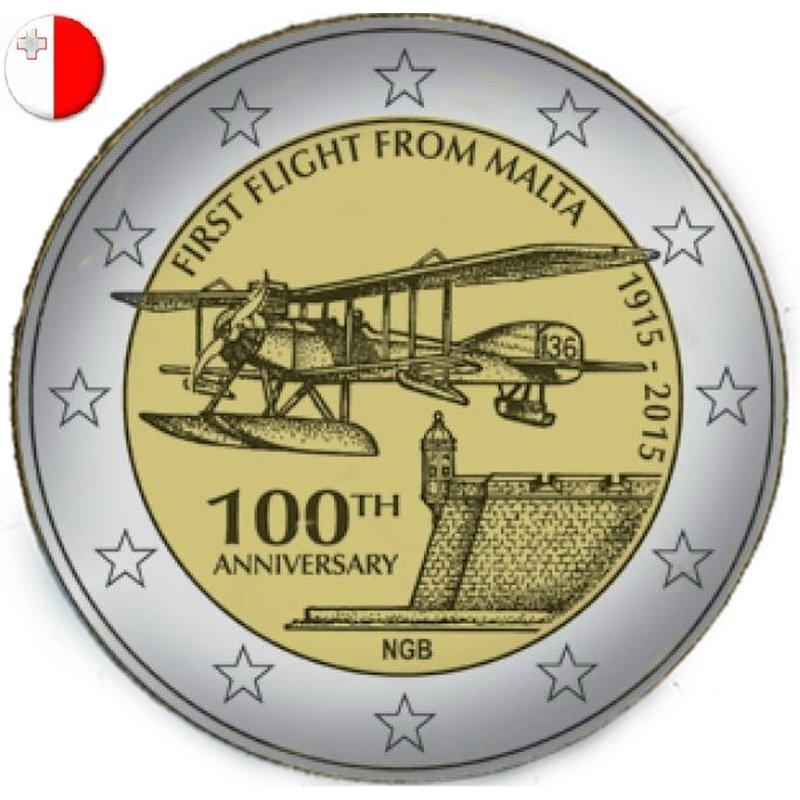 2 Euro Sondermünze Malta 2015erster Flug Auf Malta