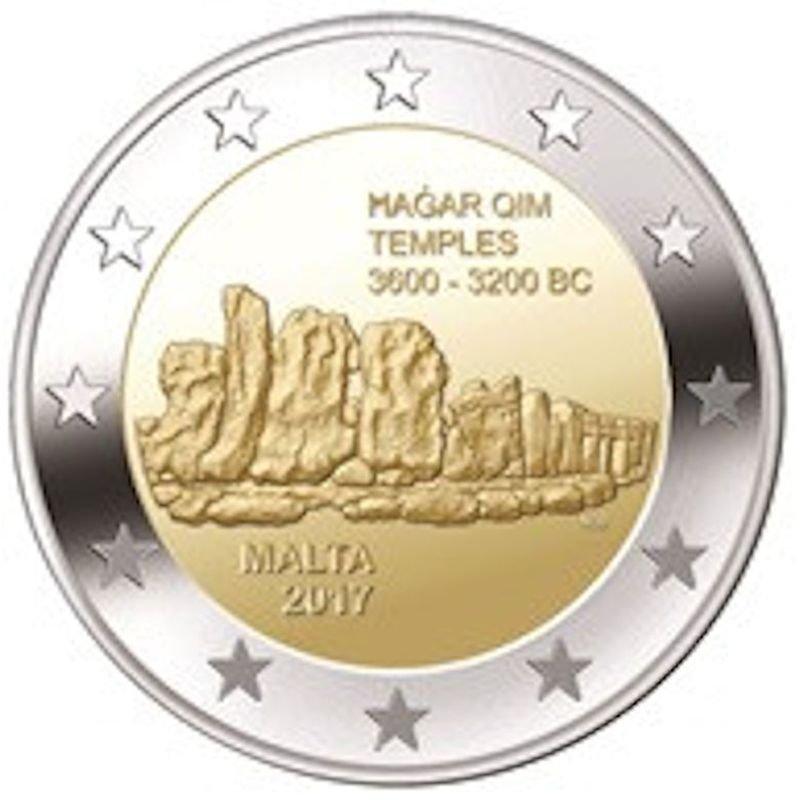 2 Euro Sondermünze Malta 2017hagar Qim 490