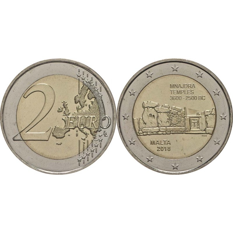 2 Euro Sondermünze Malta 2018mnajdra Tempel 490 E