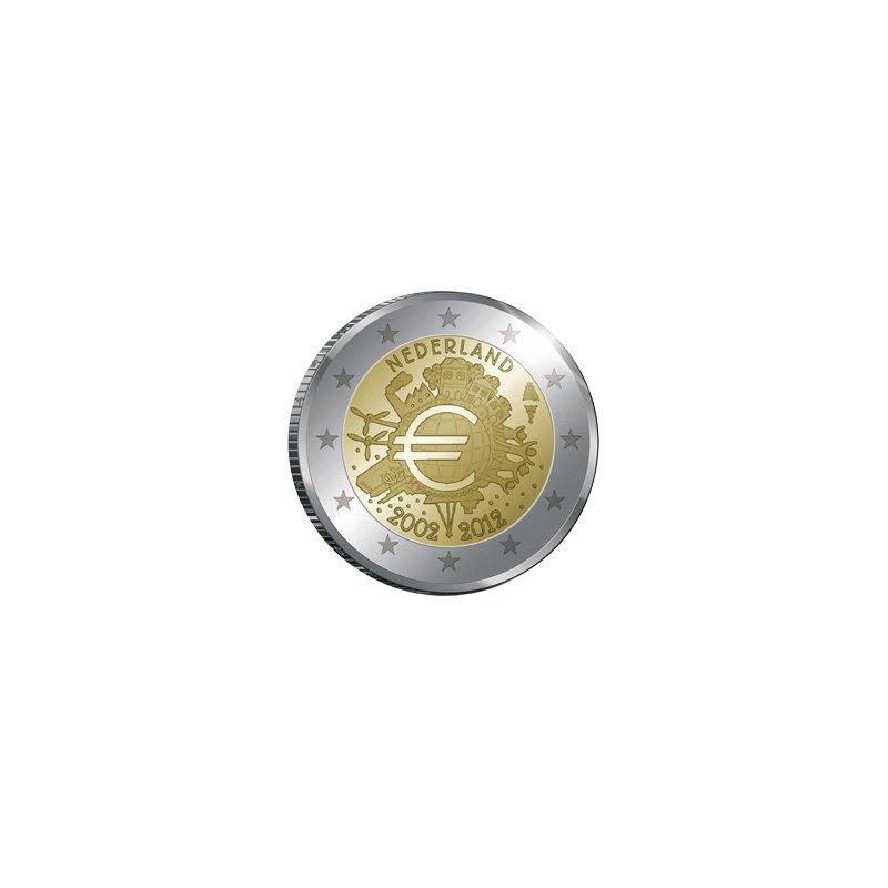 2 Euro Sondermünze Niederland 201210 Jahre Euro Bargeldqu