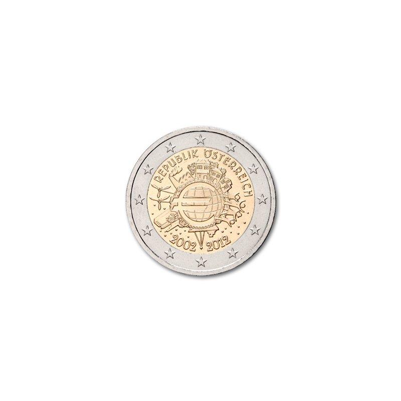 2 Euro Sondermünze österreich 201210 Jahre Euro Barge