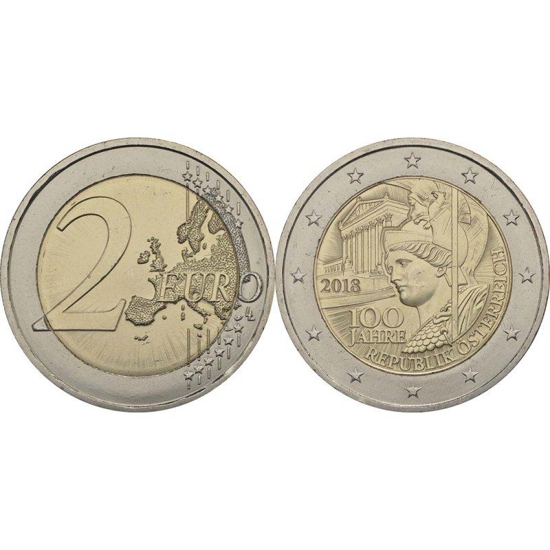 2 Euro Sondermünze österreich 2018republik 29