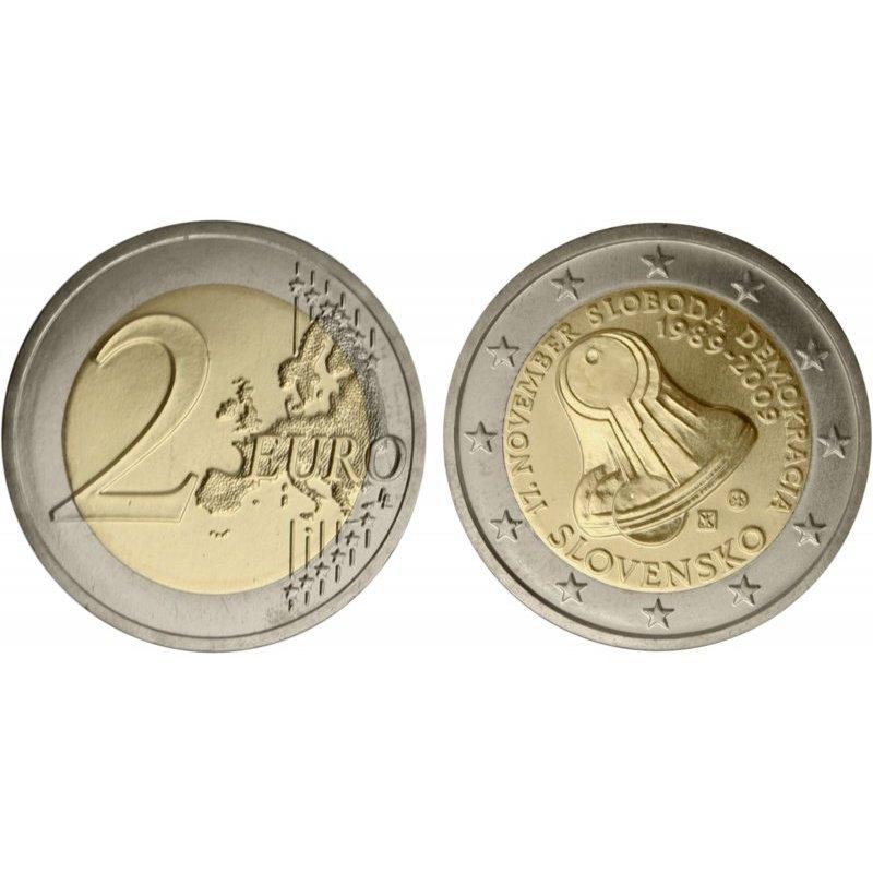 2 Euro Sondermünze Slowakei 2009demokratie 350 Eu