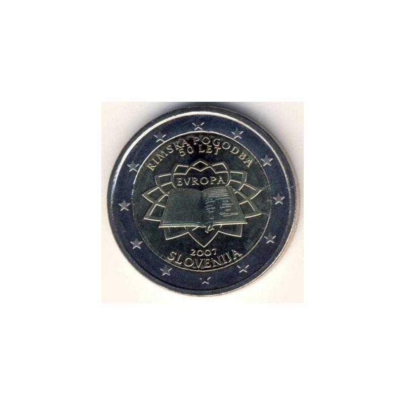 2 Euro Sondermünze Slowenien 2007römische Verträ