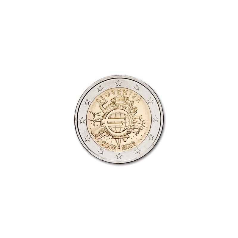 2 Euro Sondermünze Slowenien 201210 Jahre Euro Bargeldquo