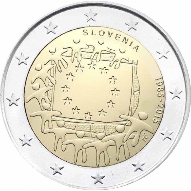 2 Euro Sondermünze Slowenien 2015europaflagge