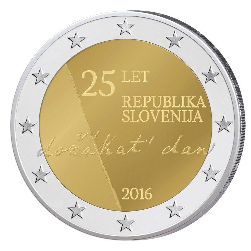 Pp 2 Euro Sondermünze Slowenien 2016republik 1290