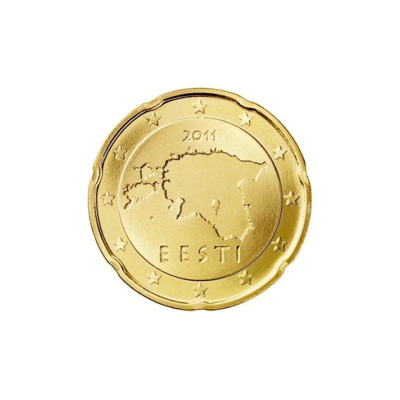 20 Cent Kursmünze Estland 2011 104