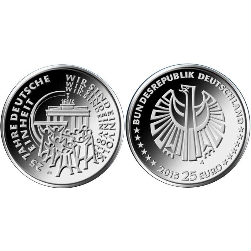 25 Euro Silber Deutschland 2015 Deutsche Einheitunc Prau