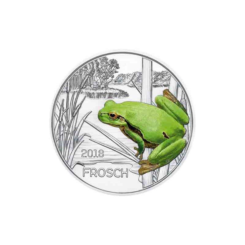 3 Euro Tiertaler österreich 2018 Frosch 2990 Euro