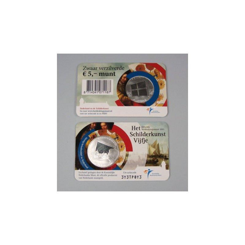 5 Euro Münze Niederlande 2011 Schilderkunst 717 E