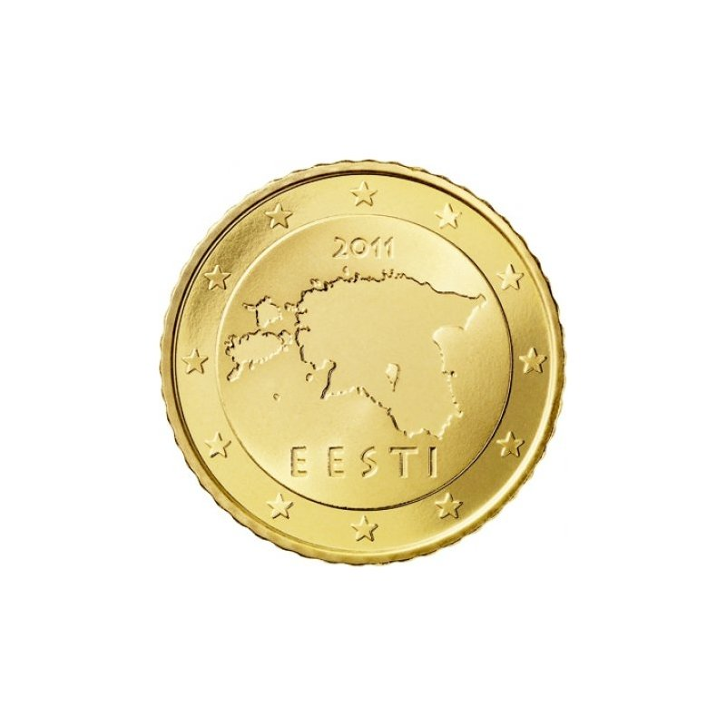 50 Cent Kursmünze Estland 2011 156