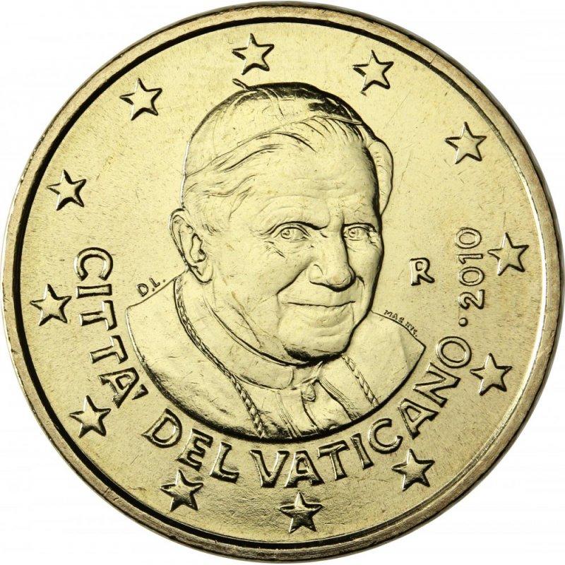50 Cent Kursmünze Vatikan 2010 299