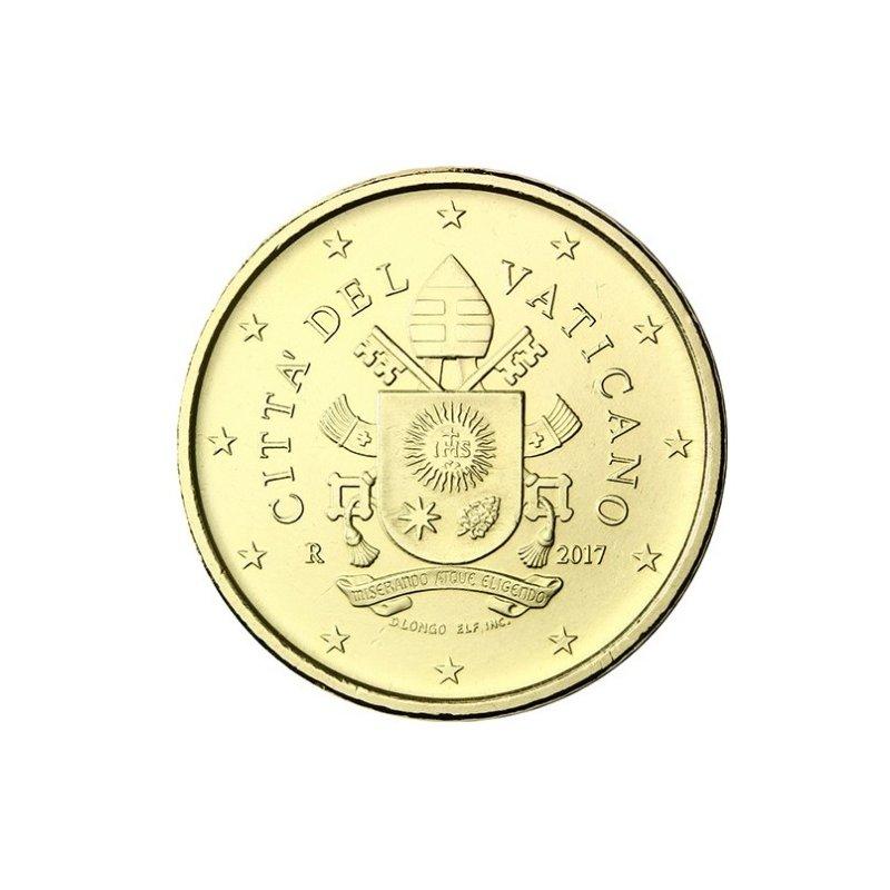 50 Cent Vatikan 2017wappen Papst Franziskus 199