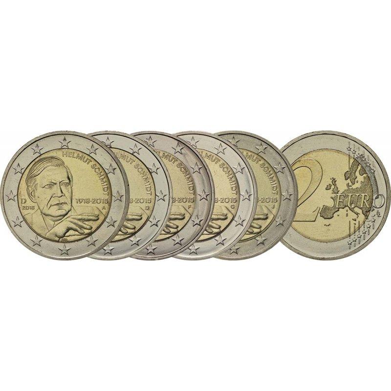 5x2 Euro Deutschland 2018 A J Helmut Schmidtunc 1290 E