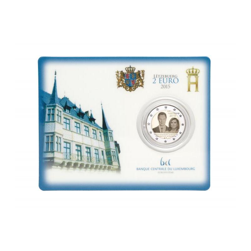 coincard 2 euro sonderm nze luxemburg 2015 15 jahre gro szl. Black Bedroom Furniture Sets. Home Design Ideas
