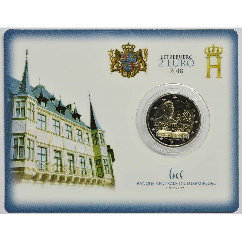 Coincard 2 Euro Sondermünze Luxemburg 2018verfassung Muum