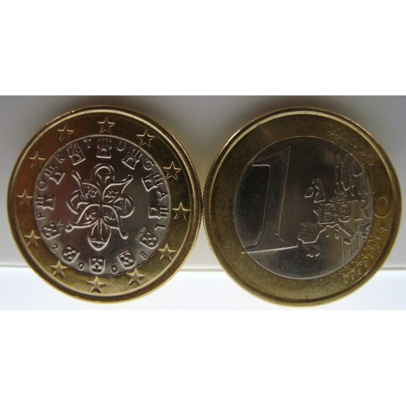 Fehlprägung 1 Euro Kursmünze Portugal 2008alte Wertse