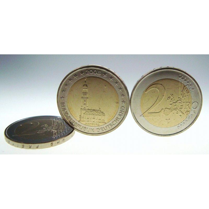 Fehlprägung 2 Euro Deutschland 2008hamburger Michelf