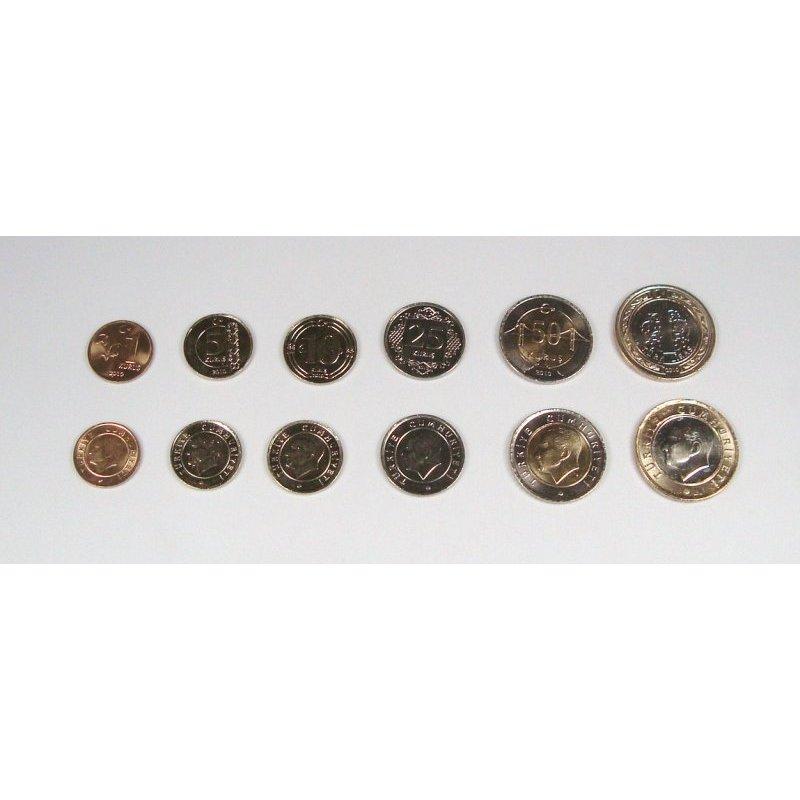 Kms Türkei 2010 1 Kuru 1 Lira 6 Münzen 415