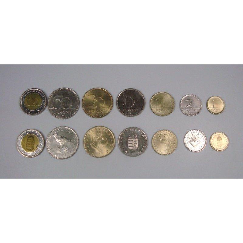 Kms Ungarn Mix 1 100 Forint 7 Münzen 415