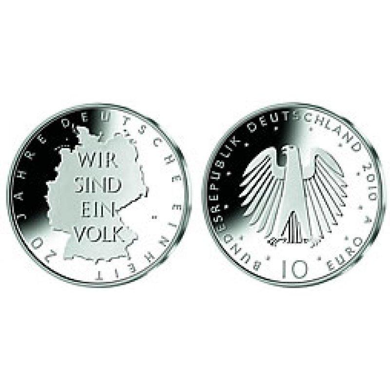 Pp 10 Euro Deutschland 2010 20jahre Deutsche Einheit 26