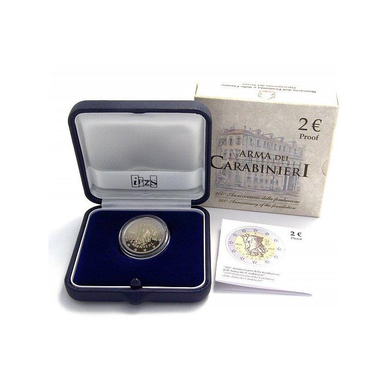 Pp 2 Euro Sondermünze Italien 2014carabinieriin Der