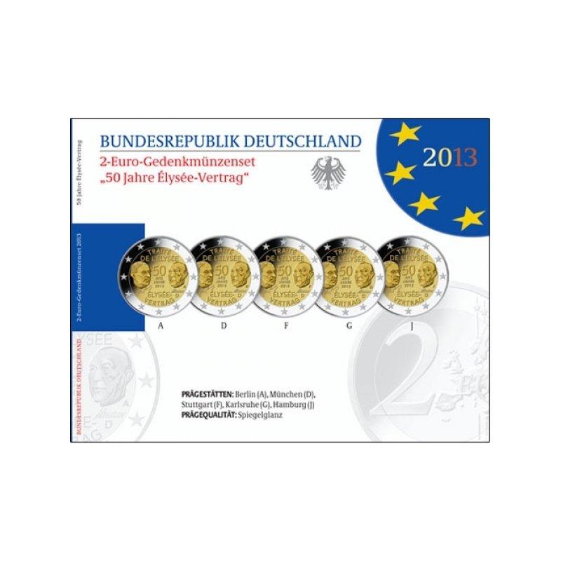 Pp 5x2 Euro Deutschland 2013 A J Elysee Vertrag 2990 E