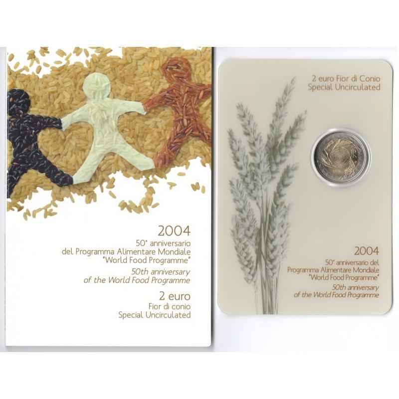 St 2 Euro Sondermünze Italien 2004welternährungsprogr