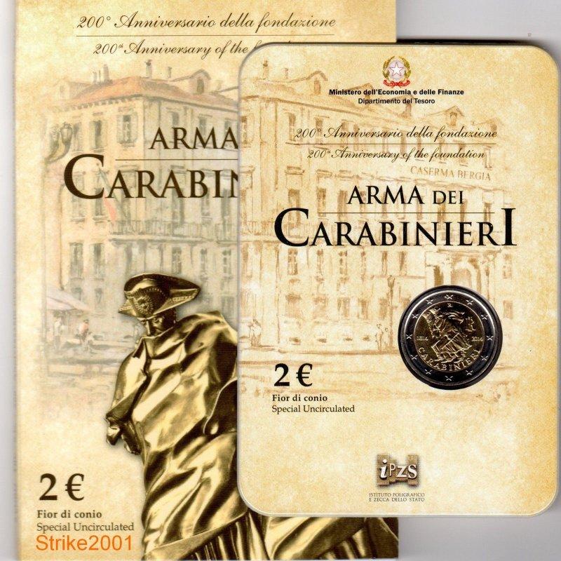 St 2 Euro Sondermünze Italien 2014carabinieriim Blis