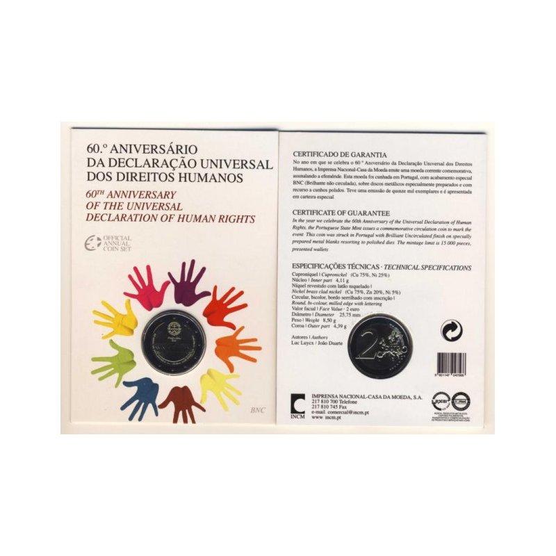 St 2 Euro Sondermünze Portugal 2008menschenrechte St