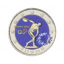 Colorierte 2 Euro SKM Griechenland 2004Olympia Athen
