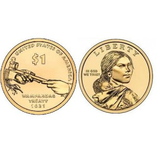 1 Dollar USA 2011 P Sacagawea - Nativ Dollar