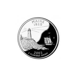 25 Cent / Quarter USA 2003 D Maine